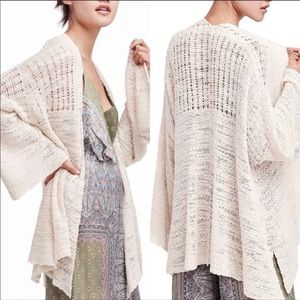 FREE PEOPLE In My Element Kimono Sweater L Cream